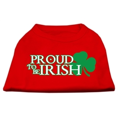 Mirage Pet Products Proud to be Irish Screen Print Shirt Red XXXL (20)