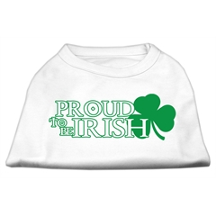 Mirage Pet Products Proud to be Irish Screen Print Shirt White  Med (12)