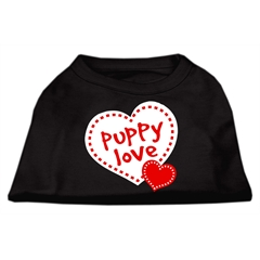 Mirage Pet Products Puppy Love Screen Print Shirt Black  Lg (14)