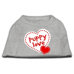 Mirage Pet Products Puppy Love Screen Print Shirt Grey Lg (14)