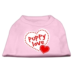 Mirage Pet Products Puppy Love Screen Print Shirt Light Pink  Lg (14)