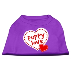 Mirage Pet Products Puppy Love Screen Print Shirt Purple Lg (14)