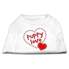 Mirage Pet Products Puppy Love Screen Print Shirt White  XL (16)