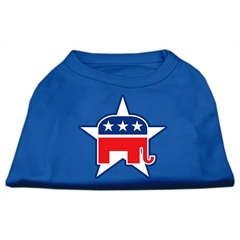Mirage Pet Products Republican Screen Print Shirts Blue XXXL (20)