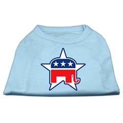 Mirage Pet Products Republican Screen Print Shirts  Baby Blue XL (16)