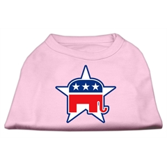 Mirage Pet Products Republican Screen Print Shirts  Light Pink XL (16)