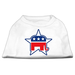 Mirage Pet Products Republican Screen Print Shirts  White XL (16)