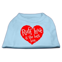 Mirage Pet Products Ruff Love Screen Print Shirt Baby Blue XS (8)