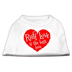 Mirage Pet Products Ruff Love Screen Print Shirt White Med (12)