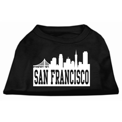 Mirage Pet Products San Francisco Skyline Screen Print Shirt Black XL (16)