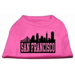 Mirage Pet Products San Francisco Skyline Screen Print Shirt Bright Pink Med (12)