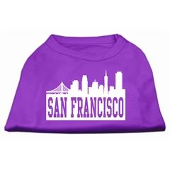 Mirage Pet Products San Francisco Skyline Screen Print Shirt Purple XXL (18)