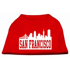 Mirage Pet Products San Francisco Skyline Screen Print Shirt Red XS (8)