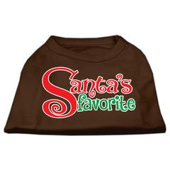 Mirage Pet Products Santas Favorite Screen Print Pet Shirt Brown XS (8)
