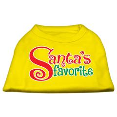 Mirage Pet Products Santas Favorite Screen Print Pet Shirt Yellow XS (8)