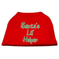 Mirage Pet Products Santa's Lil' Helper Screen Print Shirt  Red XXXL (20)