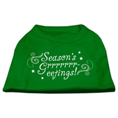 Mirage Pet Products Seasons Greetings Screen Print Shirt Emerald Green Med (12)