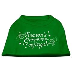 Mirage Pet Products Seasons Greetings Screen Print Shirt Emerald Green Sm (10)