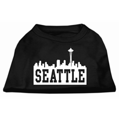 Mirage Pet Products Seattle Skyline Screen Print Shirt Black Lg (14)