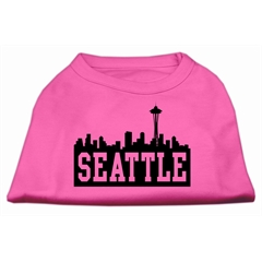 Mirage Pet Products Seattle Skyline Screen Print Shirt Bright Pink Med (12)