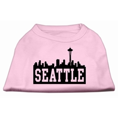 Mirage Pet Products Seattle Skyline Screen Print Shirt Light Pink Med (12)