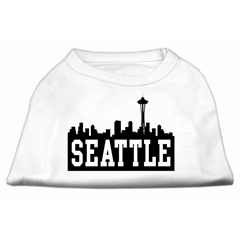 Mirage Pet Products Seattle Skyline Screen Print Shirt White Sm (10)
