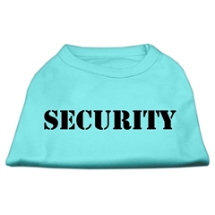 Mirage Pet Products Security Screen Print Shirts Aqua w/ black text XXL (18)