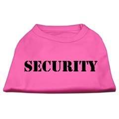 Mirage Pet Products Security Screen Print Shirts Bright Pink w/ black text XS (8)