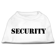 Mirage Pet Products Security Screen Print Shirts White w/ black text Sm (10)