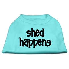 Mirage Pet Products Shed Happens Screen Print Shirt Aqua Lg (14)