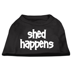 Mirage Pet Products Shed Happens Screen Print Shirt Black  XS (8)