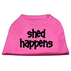 Mirage Pet Products Shed Happens Screen Print Shirt Bright Pink Sm (10)