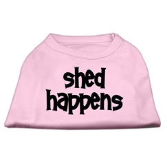 Mirage Pet Products Shed Happens Screen Print Shirt Light Pink Lg (14)