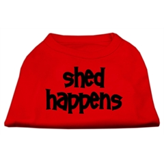 Mirage Pet Products Shed Happens Screen Print Shirt Red XL (16)