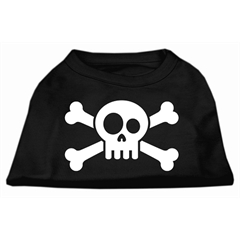 Mirage Pet Products Skull Crossbone Screen Print Shirt Black Med (12)
