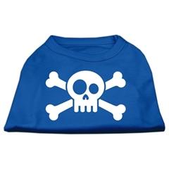Mirage Pet Products Skull Crossbone Screen Print Shirt Blue Med (12)
