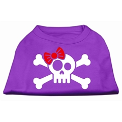 Mirage Pet Products Skull Crossbone Bow Screen Print Shirt Purple Med (12)