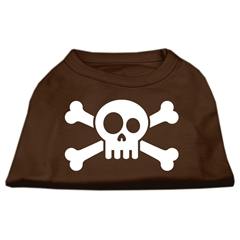 Mirage Pet Products Skull Crossbone Screen Print Shirt Brown XS (8)