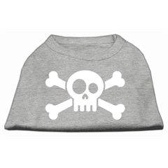 Mirage Pet Products Skull Crossbone Screen Print Shirt Grey Med (12)