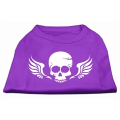 Mirage Pet Products Skull Wings Screen Print Shirt Purple XS (8)