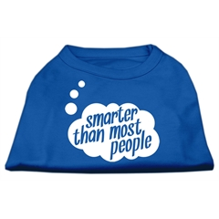 Mirage Pet Products Smarter then Most People Screen Printed Dog Shirt Blue XL (16)