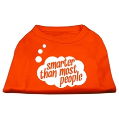 Mirage Pet Products Smarter then Most People Screen Printed Dog Shirt Orange XS (8)