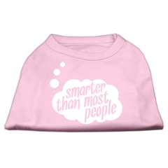 Mirage Pet Products Smarter then Most People Screen Printed Dog Shirt   Light Pink XXXL (20)
