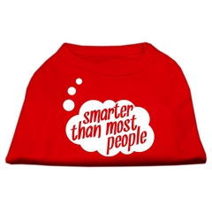 Mirage Pet Products Smarter then Most People Screen Printed Dog Shirt   Red XL (16)