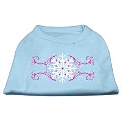 Mirage Pet Products Pink Snowflake Swirls Screenprint Shirts Baby Blue M (12)