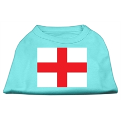 Mirage Pet Products St. George's Cross (English Flag) Screen Print Shirt Aqua XXL (18)