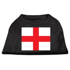 Mirage Pet Products St. George's Cross (English Flag) Screen Print Shirt Black  XXL (18)