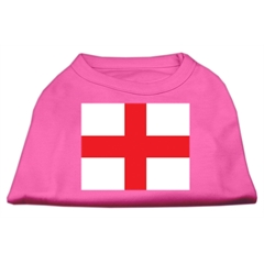 Mirage Pet Products St. George's Cross (English Flag) Screen Print Shirt Bright Pink Lg (14)
