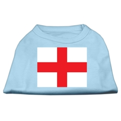 Mirage Pet Products St. George's Cross (English Flag) Screen Print Shirt Baby Blue Lg (14)