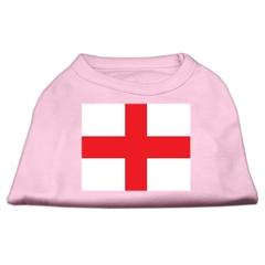 Mirage Pet Products St. George's Cross (English Flag) Screen Print Shirt Light Pink Med (12)